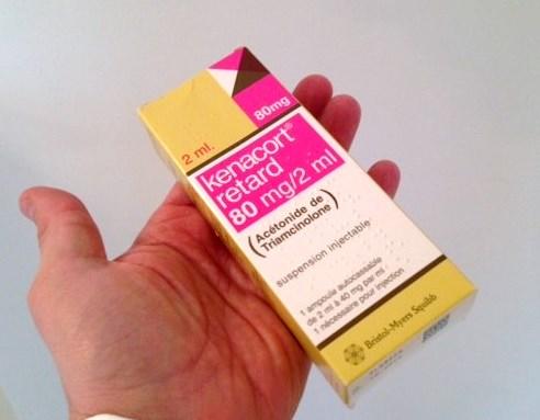 Corticoides retards injectables kenacort pour le traitement des cicatrices cheloides et hypertrophiques
